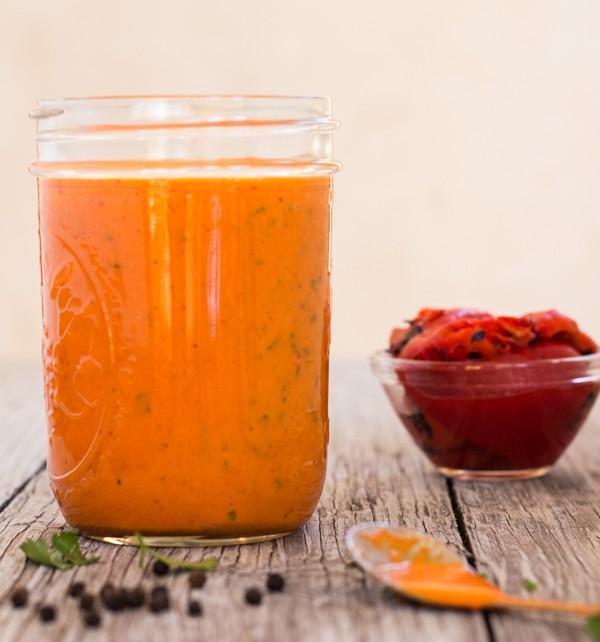 Roasted Red Pepper Vinaigrette | Letty's Kitchen