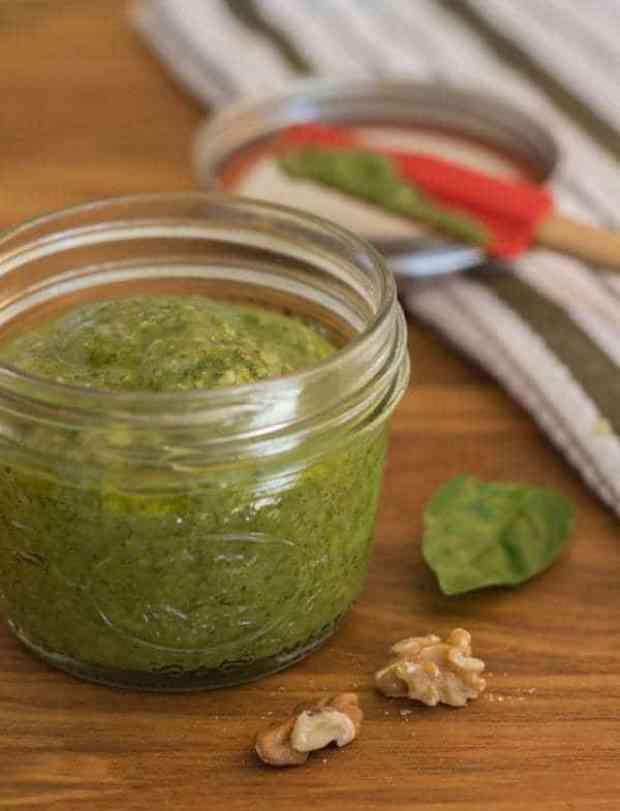 Easy Basil Walnut Pesto | Letty's Kitchen