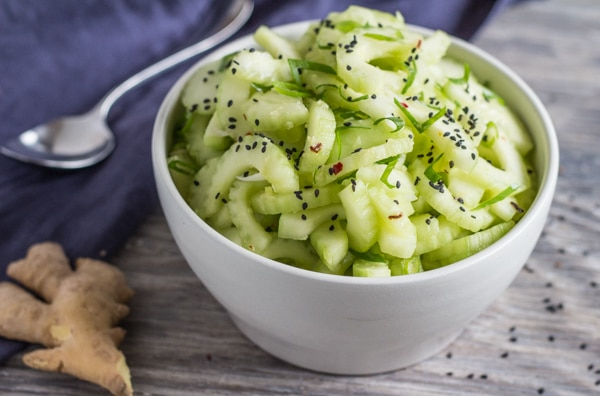 Sweet and Spicy Cucumber Ginger Salad | Letty's Kitchen