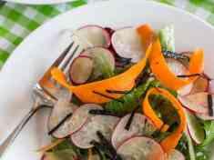 Sesame Shiitake Vinaigrette and Asian Radish Salad