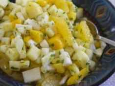 Jicama Fruit Salad with Cilantro and Lime
