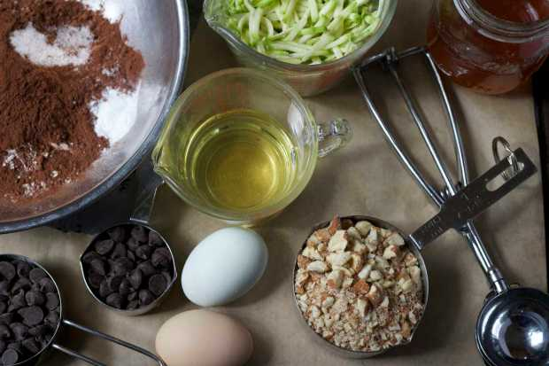 Chocolate Zucchini Muffins ingredients