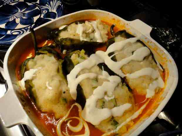 Poblano Chiles Stuffed with Potatoes and Cheese