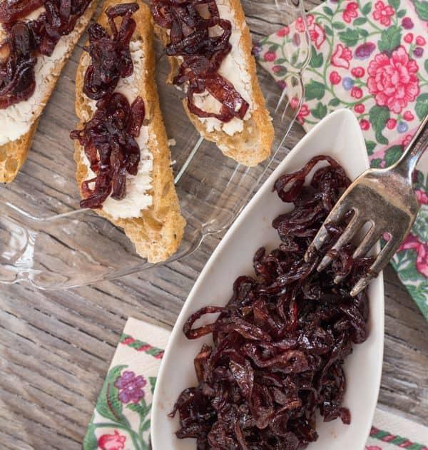 Shallot and Red Wine Jam closeup