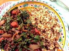 Smoky Green Lentils with Kale and Quinoa
