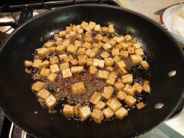 Lacquered Tofu