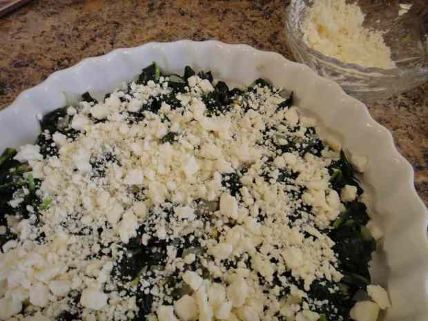 Spinach, Herb and Feta Cheese Custard