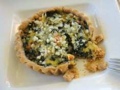 Spinach and Blue Cheese Tart