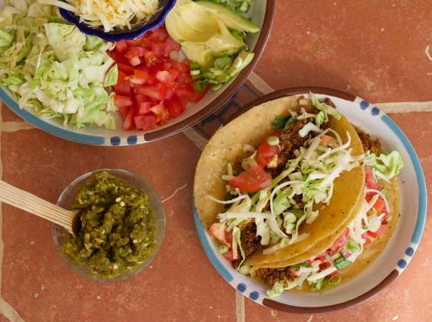 """Traditional Tacos with Tofu """"Hamburger""""   Letty's Kitchen"""