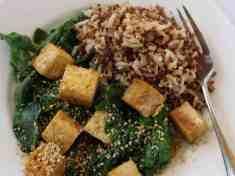 Leafy Chinese Tofu {vegan, gluten free}