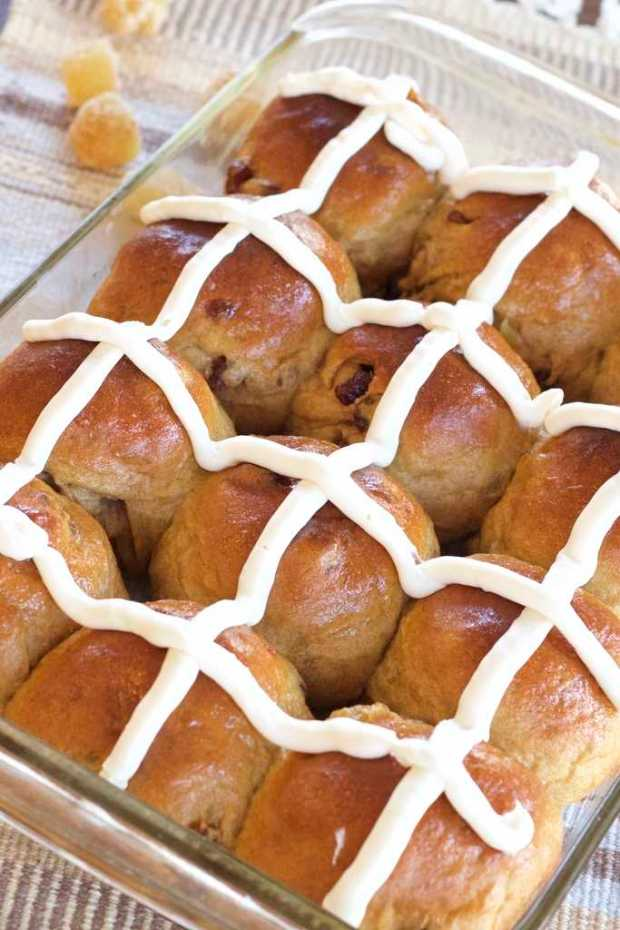 Gingery Hot Cross Buns | Letty's Kitchen