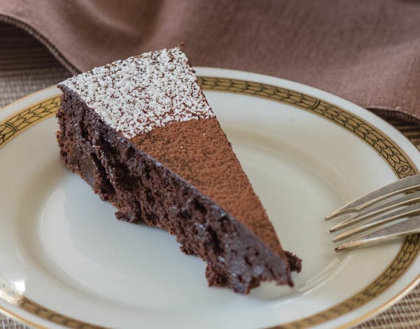 Bittersweet Chocolate Torte slice