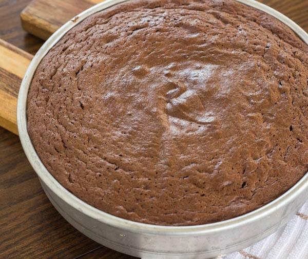 Bittersweet Chocolate Torte in pan