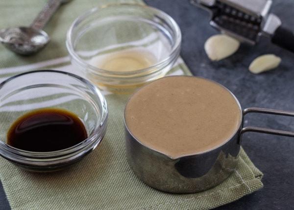 ingredients for Five-Minute Tahini Tamari Sauce