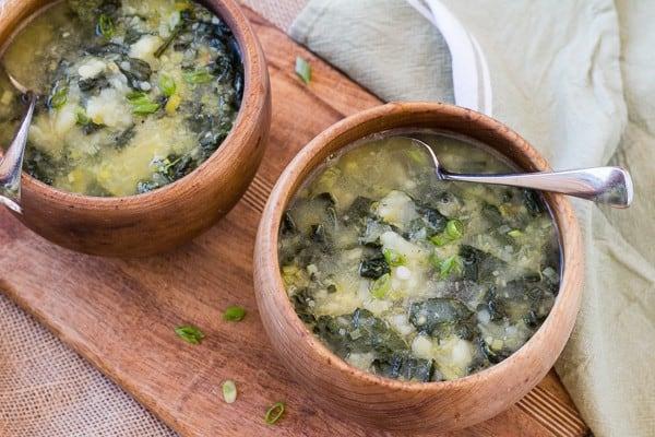 Instant Pot Irish Potato Kale Soup | Letty's Kitchen