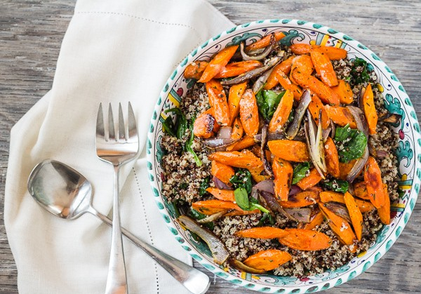 Roasted Carrots and Quinoa for Vegetables: Inspired Recipes and Tips—a Martha Stewart cookbook review.