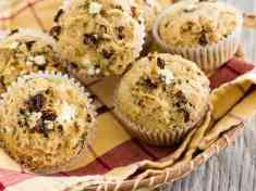 Savory Goat Cheese, Basil, and Sun-Dried Tomato Muffins