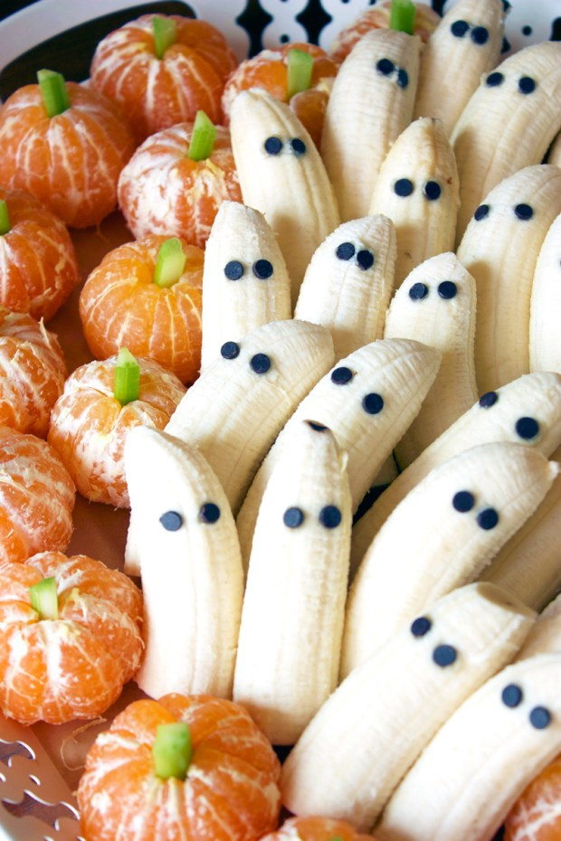 Tangerine Pumpkins and Ghostly Bananas for 16 Healthy Vegetarian Halloween Picks