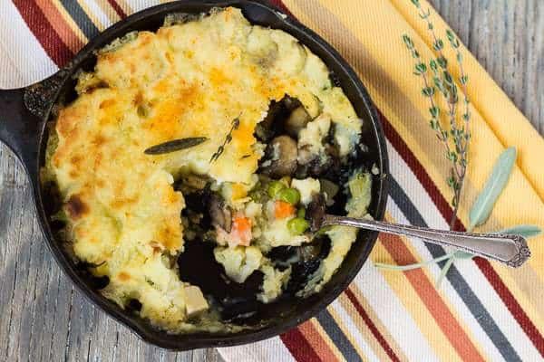 Vegan Shepherd's Pie with Savory Mushroom Gravy portion our