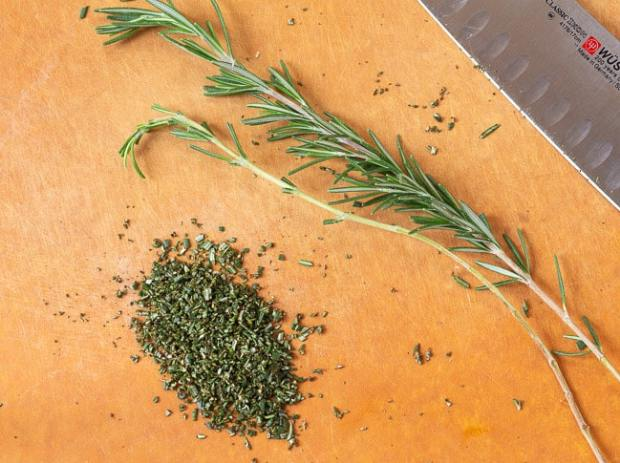 chopped fresh rosemary for Oatmeal Rosemary Scones
