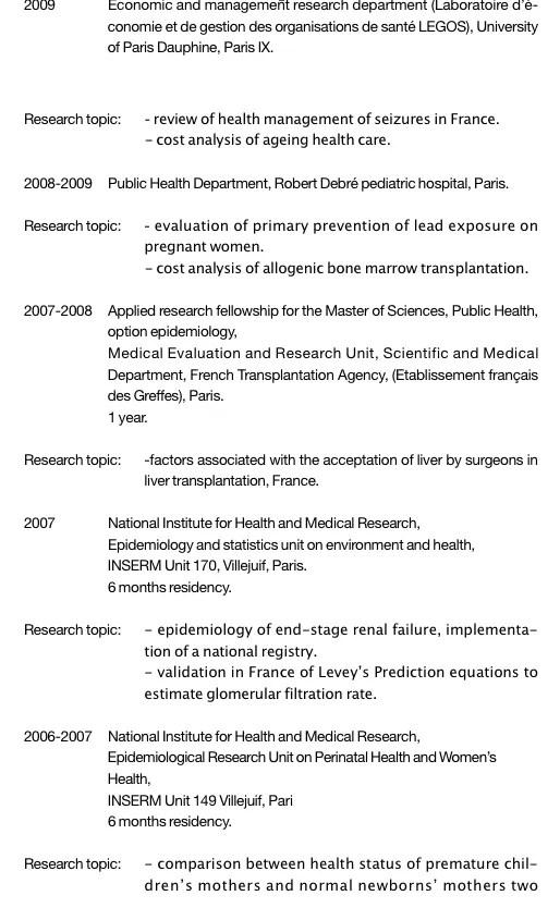 CV En Anglais Commenté Modèle Pour Suivre Un Master Dans