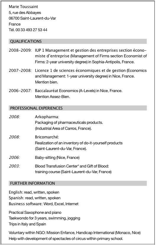 cv association humanitaire