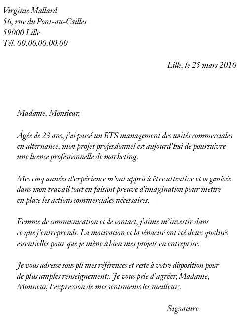 photo lettre de motivation pour un contrat de professionnalisation modele lettre