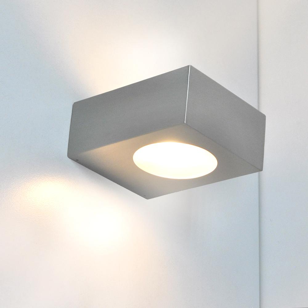 Badleuchte Wandleuchte LED 5W Edelstahl Glas Wand Bad