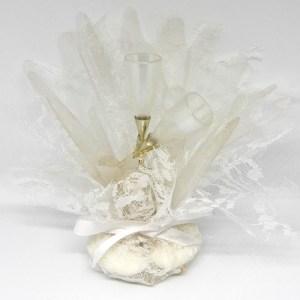 Bruiloft Bedankje 'Champagneglazen' (wit)