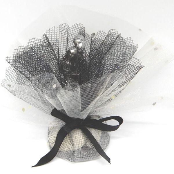 Bruiloft-Bedankje-Metallic-Koppel-wit-met-zwart