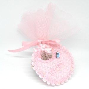 Islamitisch Geboortebedankje 'Slabbetje' (roze)
