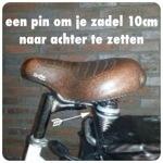 Met een handige zadelpen van je eigen fiets een mamafiets maken