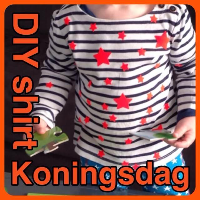 DIY sterren shirt voor Koningsdag