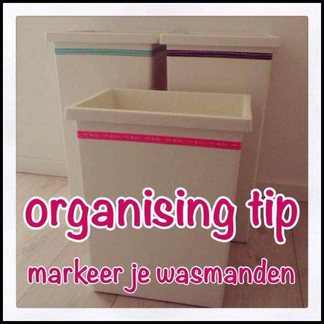 organising tip: wasmand markeren