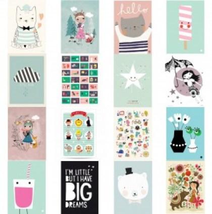 Verjaardag cadeau ideeën voor kinderen van 6, 7 of 8 jaar - posters psikhouvanjou