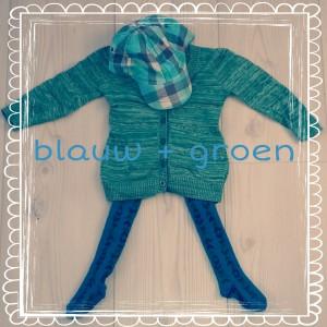 Groen + blauw: de leukste kinderkleding combinaties