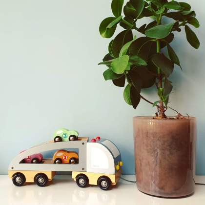 Sinterklaas cadeau: houten vrachtwagen auto van Janod