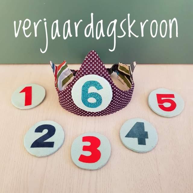 Een zelfgemaakte verjaardagskroon die je elk jaar kunt gebruiken voor kinderen - DIY selfmade fabric birthday crown tutorial kids children