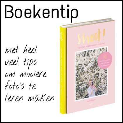 Boekentip Shoot, met heel veel tips om mooiere foto's te leren maken, Anki Wijnen