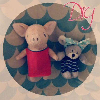 DIY geïnspireerd op het Muizenhuis: supersnelle zelfgemaakte kleertjes voor de knuffels