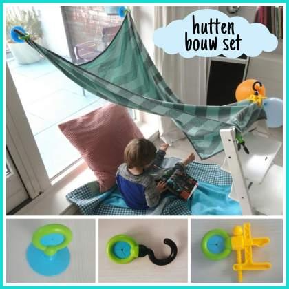 Super leuk speelgoed cadeau voor kinderen die van bouwen houden: een hutten bouw set