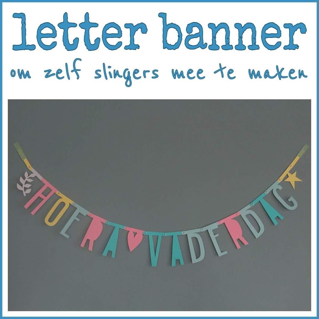Letter banner om zelf slingers mee te maken
