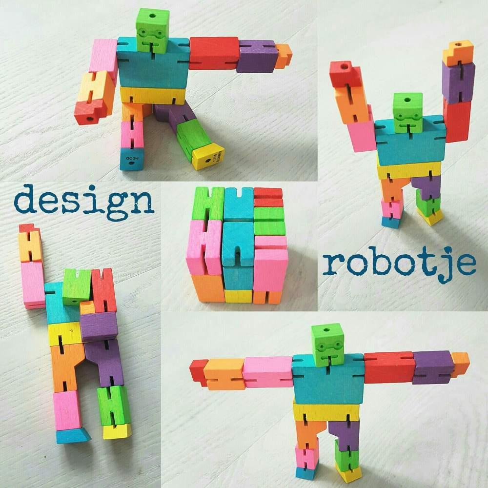 Design robotje om eindeloos mee te spelen én naar te kijken - Areaware Cubebot