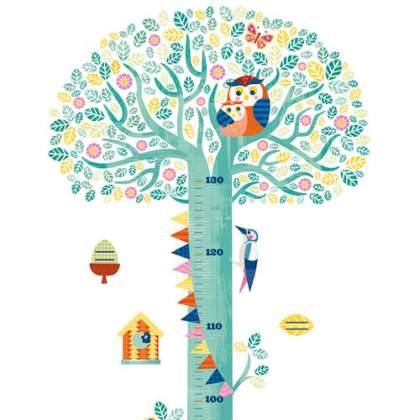 Baby verjaardag: cadeau ideeën voor kinderen van 1 jaar - djeco muursticker meetlat