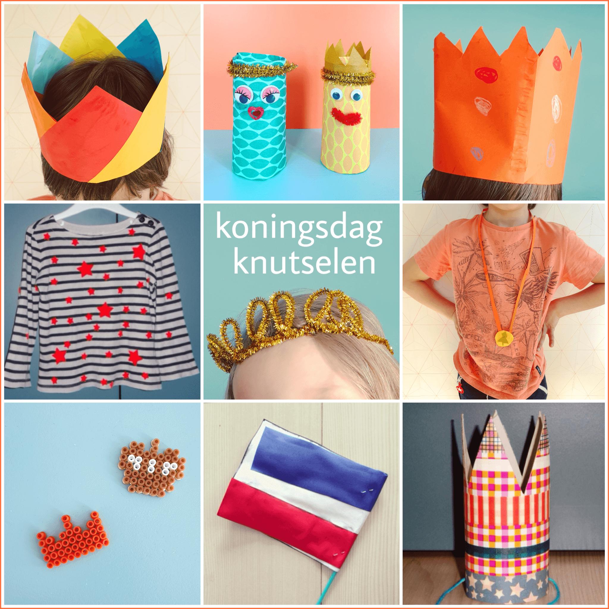 Wonderbaar Knutselen voor Koningsdag en Oranje - Leuk met kids JK-04