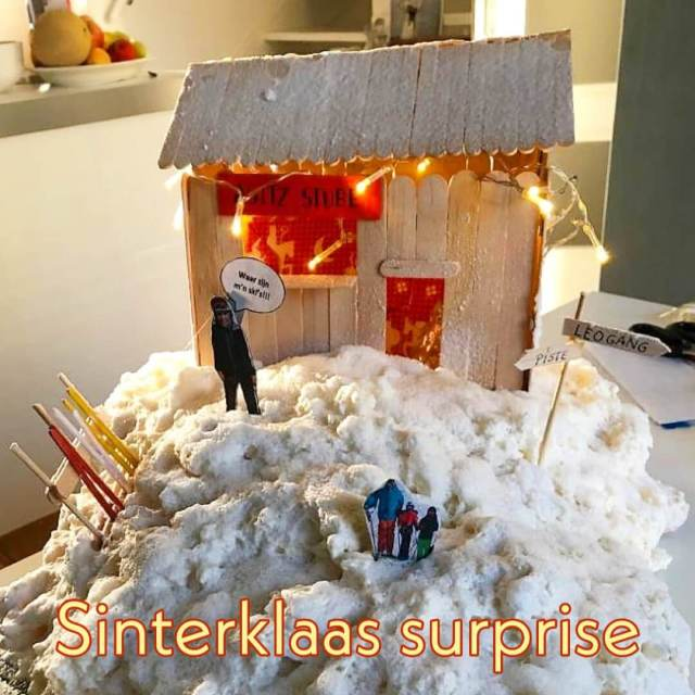 Sinterklaas surprises knutselen: wintersport huisje apres ski