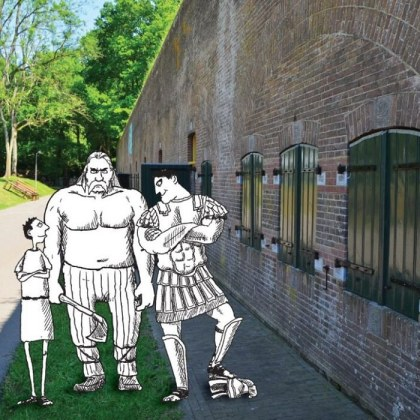In het het Waterliniemuseum in Bunnik is tot eind oktober een speciale kindertentoonstelling over de Romeinse tijd