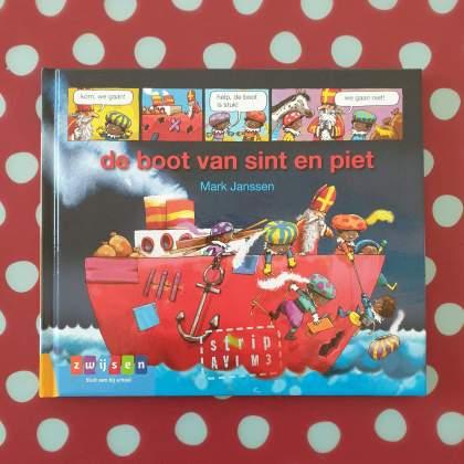 AVI boeken over Sinterklaas voor kinderen die net leren lezen - De boot van Sint en Piet - stripboek AVI M3