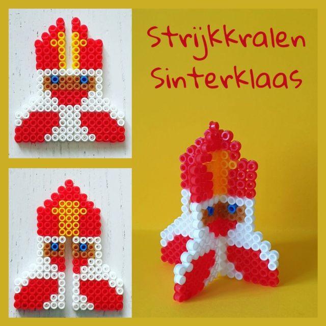 Sinterklaas knutselen met strijkkralen