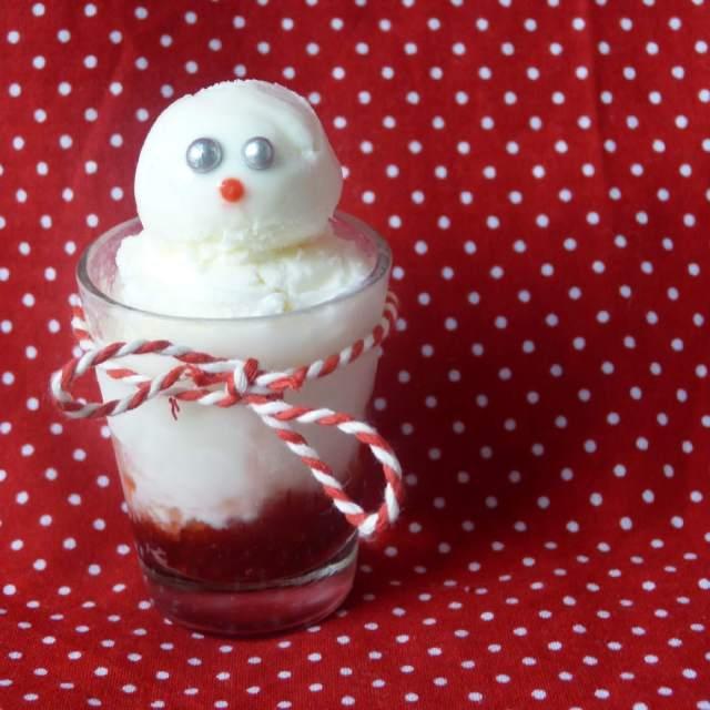 Kerst knutselen met eten: zoete recepten en ideeën - sneeuwpop ijs